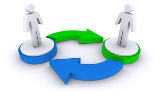 Direct backlinks exchange
