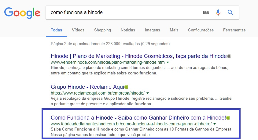 third place on Google www.fabricadediamanteshnd.com.br