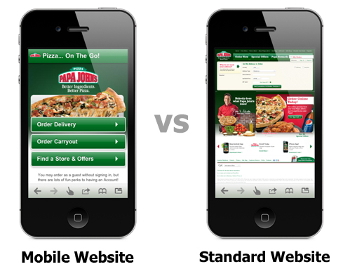 Site adaptation for mobile phones