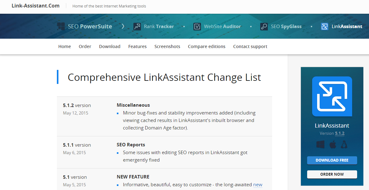 LinkAssistant automated tool