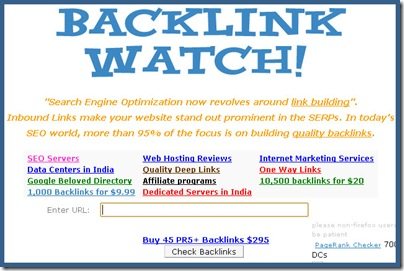 Backlink Watch SEO tool