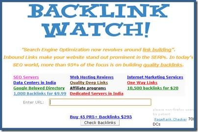 Backlink Watch SEO tool
