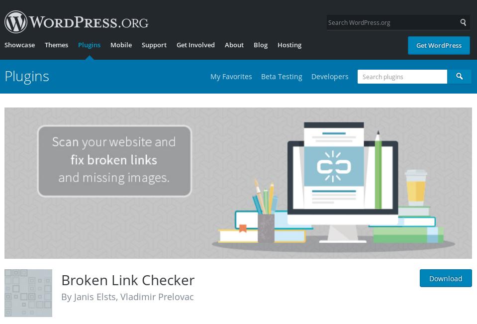 Broken Link Checker by WP
