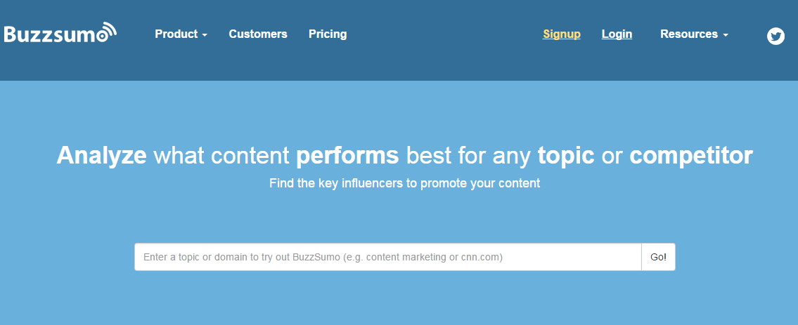 BuzzSumo SEO checker