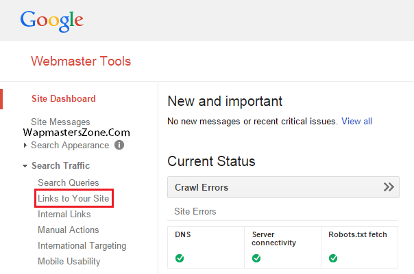 Google Webmasters Tools - free backlink check tool