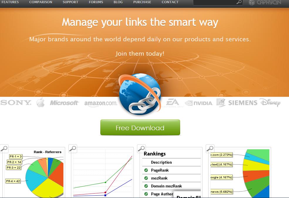 Advanced Link Manager - backlinks software