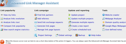 Advanced Link Manager Assistant