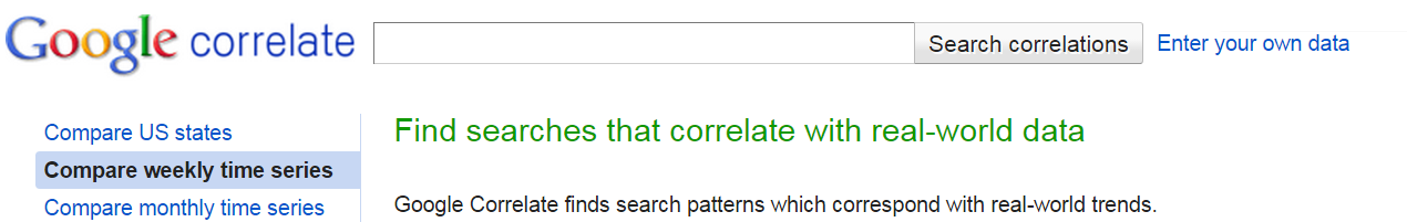 Google Correlate for SEO