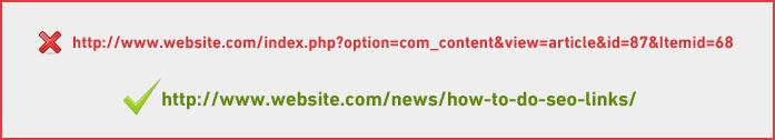 SEO-friendly URL