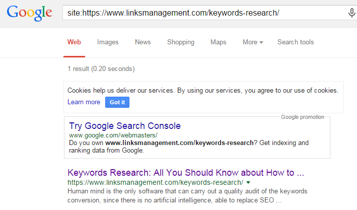 Google search by special request