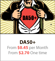 DA50+ From $0.45 per Month From $2.70 One time