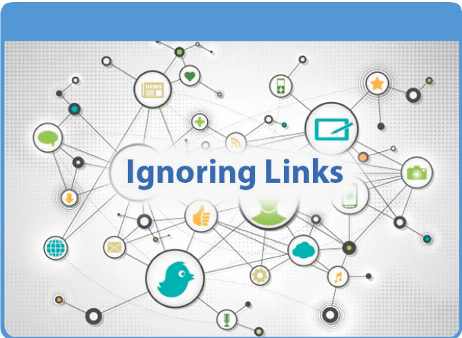 Ignoring links - another mistake