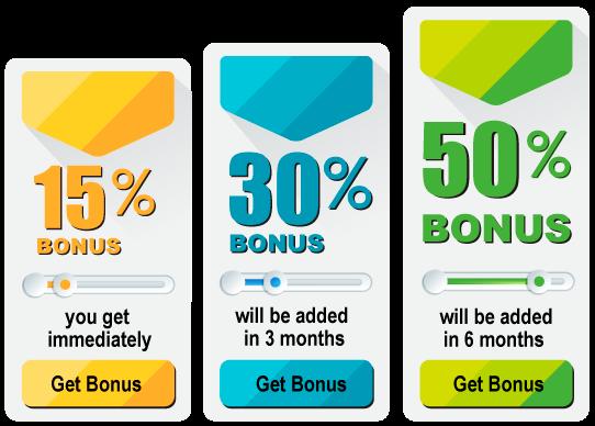 Get your bonuses