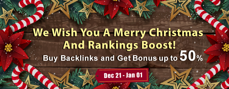 Buy backlinks and get 50% bonus