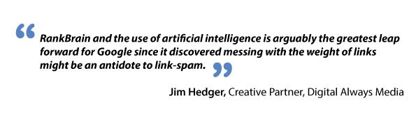Jim Hedger and RankBrain