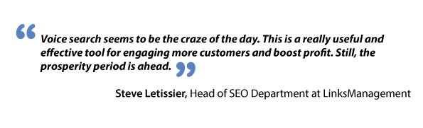 Steve Letissier about voice search