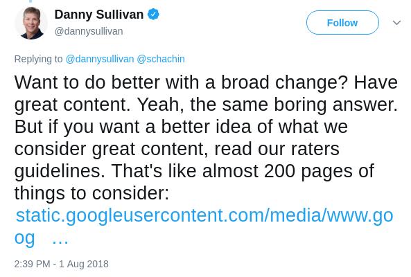 Danny Sullivan tweet