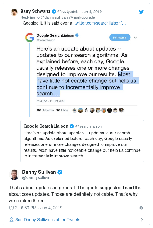 SEO gurus comments Google's update