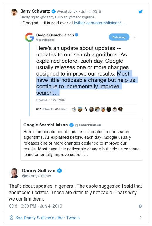 SEO gurus comments Google's update