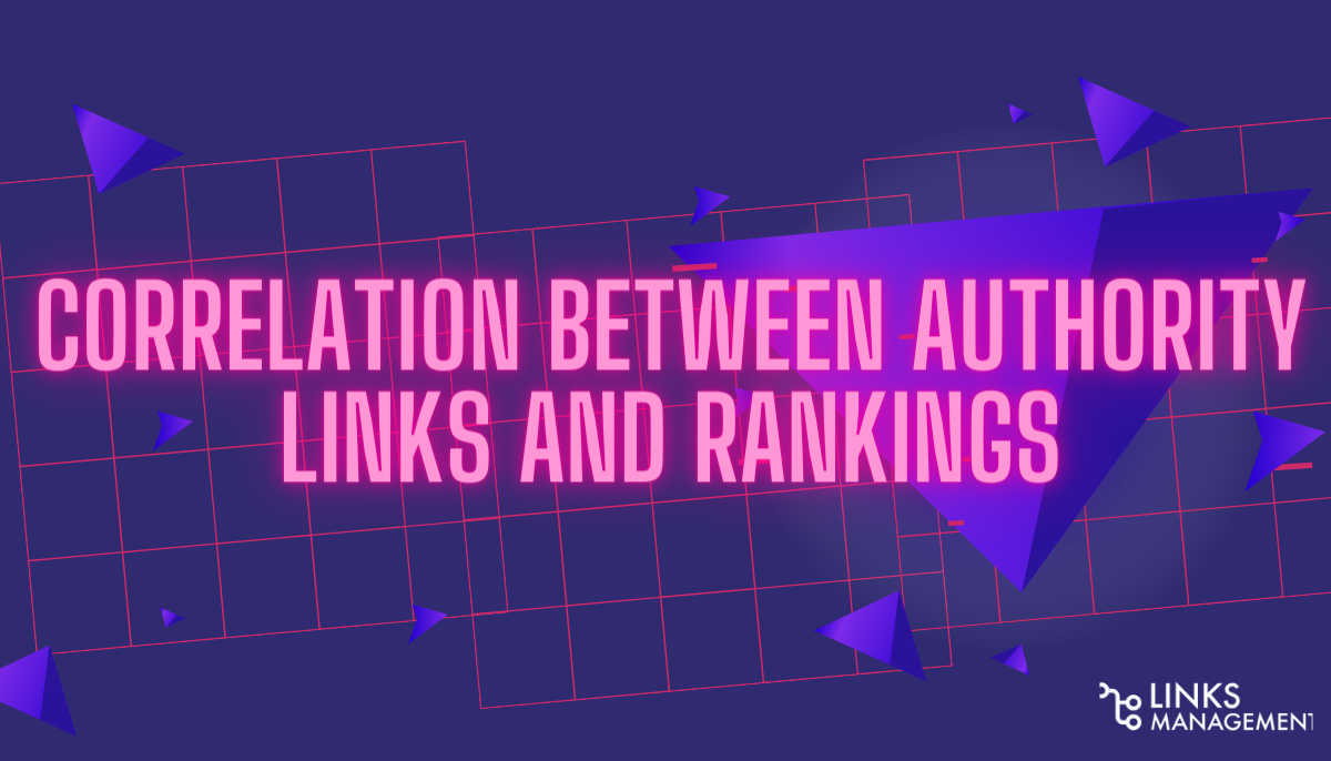 Correlation Between Authority Links and Rankings