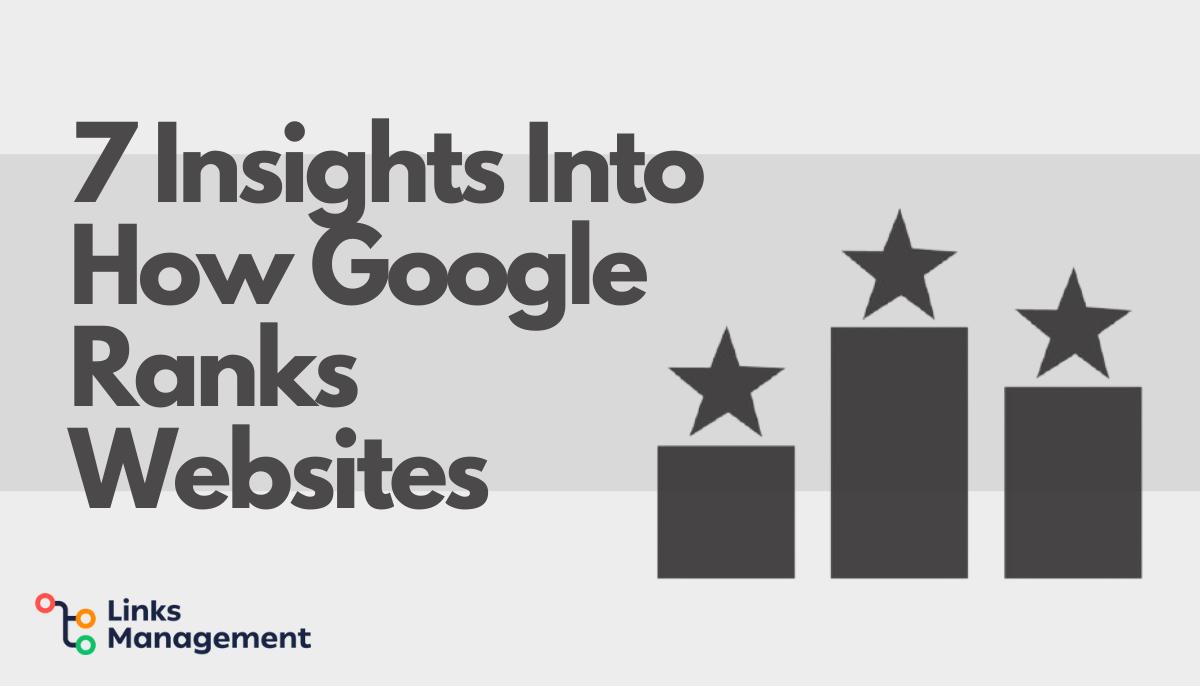 How Google Ranks Websites